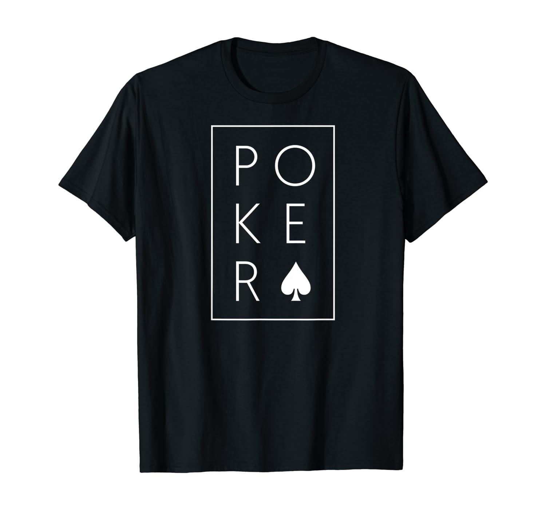 Poker Shirt Classic Spades Texas Hold'em Ace T-Shirt