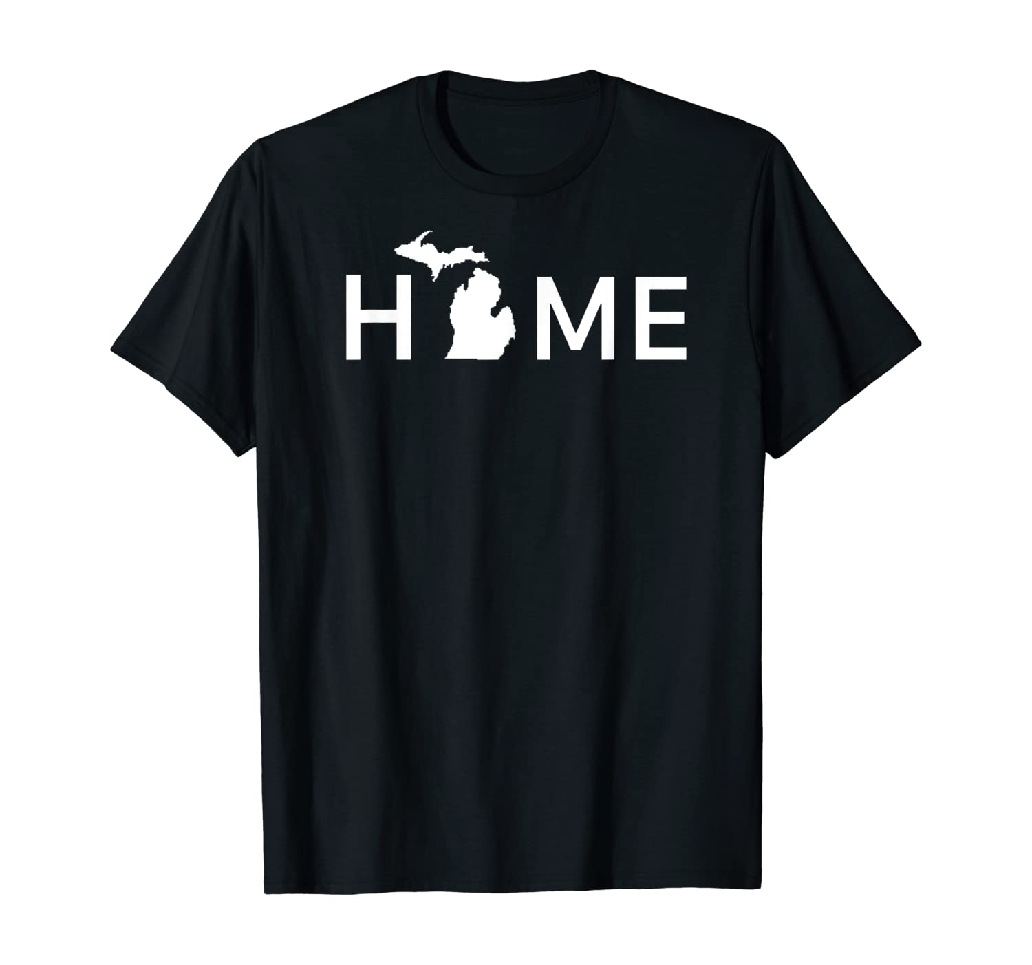 Michigan Home Love U.S. State Outline Silhouette T-Shirt