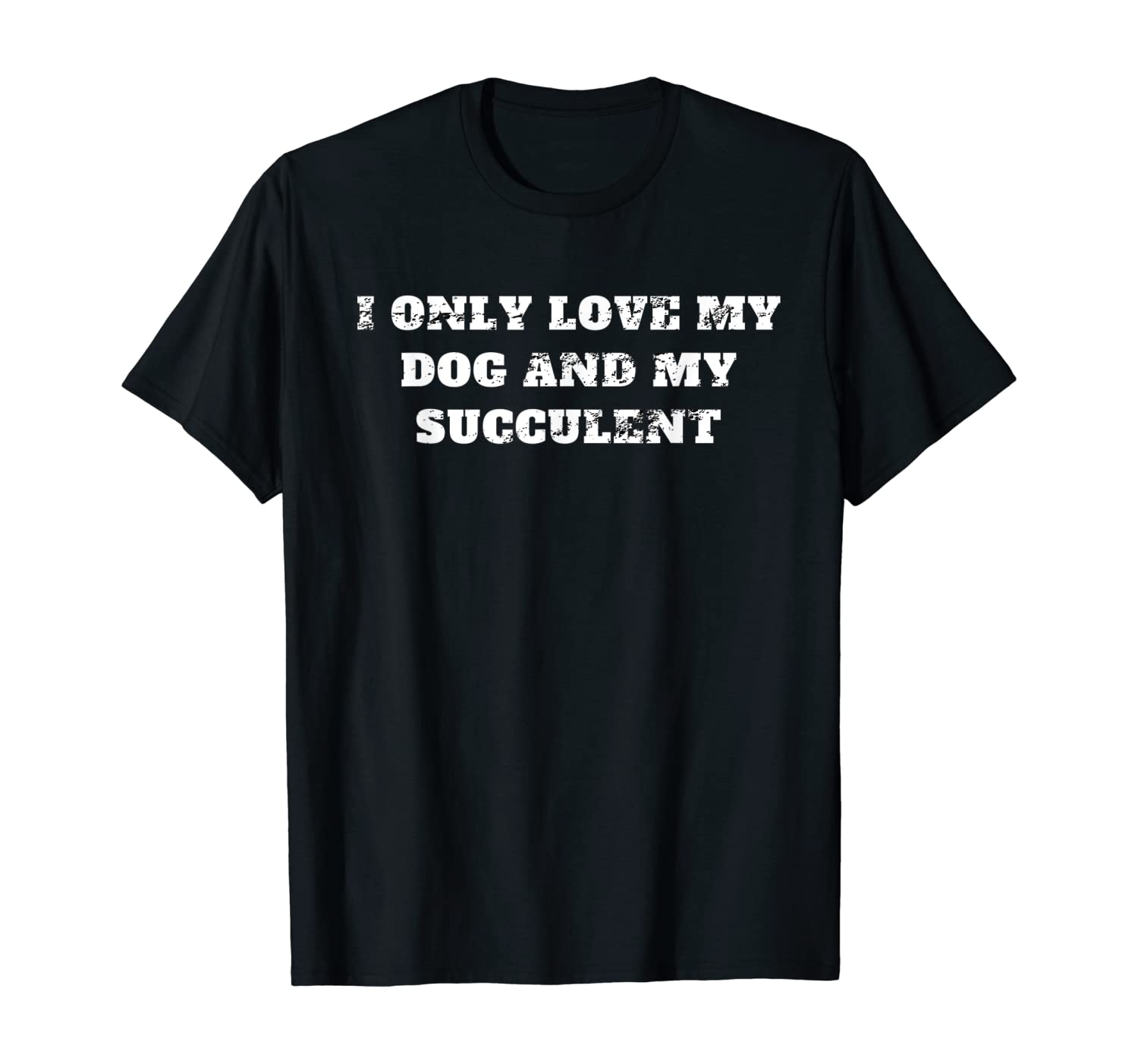I only love my dog and my succulent retro vintage distressed T-Shirt