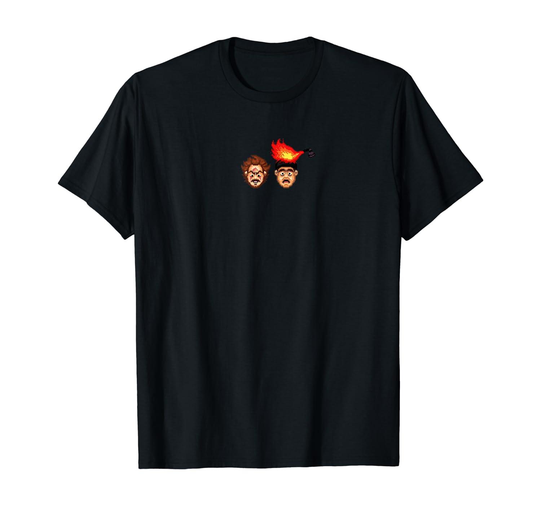 Harry and Marv Pixel Nerd Xmas Christmas Shirt Alone Home T-Shirt
