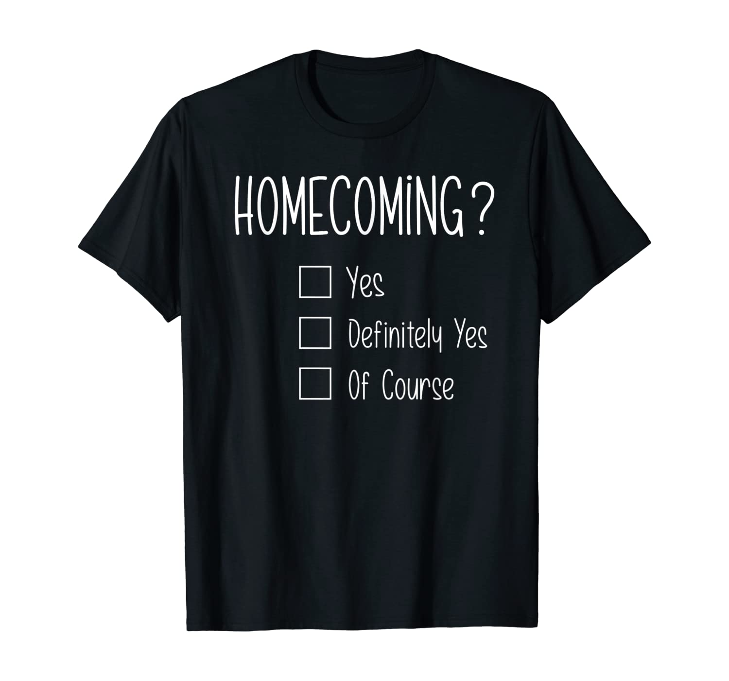 Amazon Com Homecoming Proposal Ideas With Homecoming T Shirt Clothing