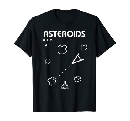 Officially Licensed Atari Asteroids T-shirt