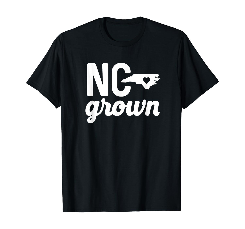 North Carolina Grown T-shirt NC Home State Shirt Heart Love T-Shirt