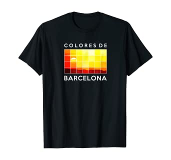 Amazon Com Spain Barcelona Colors Catalonia Spanish Sunset T Shirt Clothing
