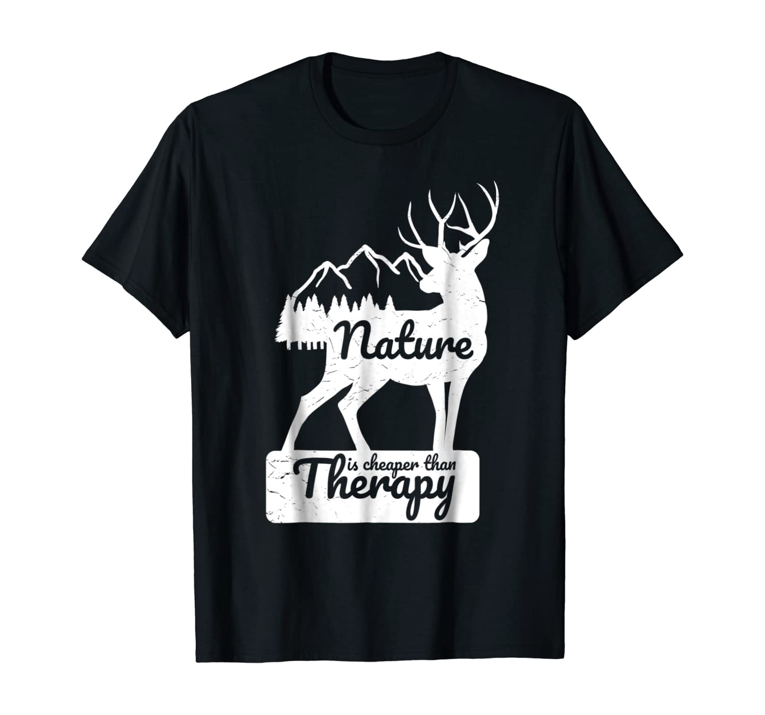 Funny Novelty Hiking T Shirt Nature Cheaper Than Therapy