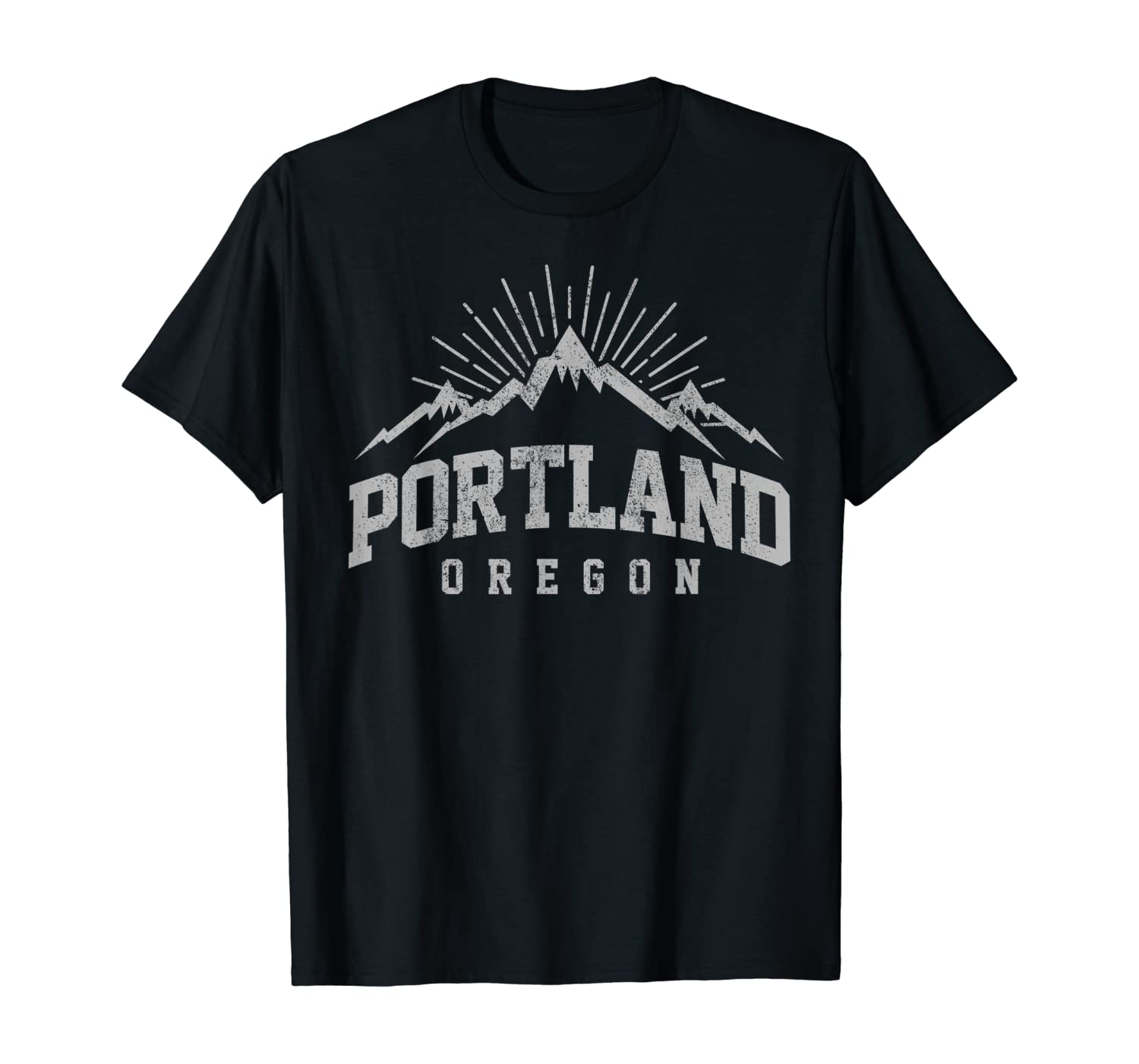 Portland Oregon Mountains Nature Outdoor Souvenir Gift T-Shirt