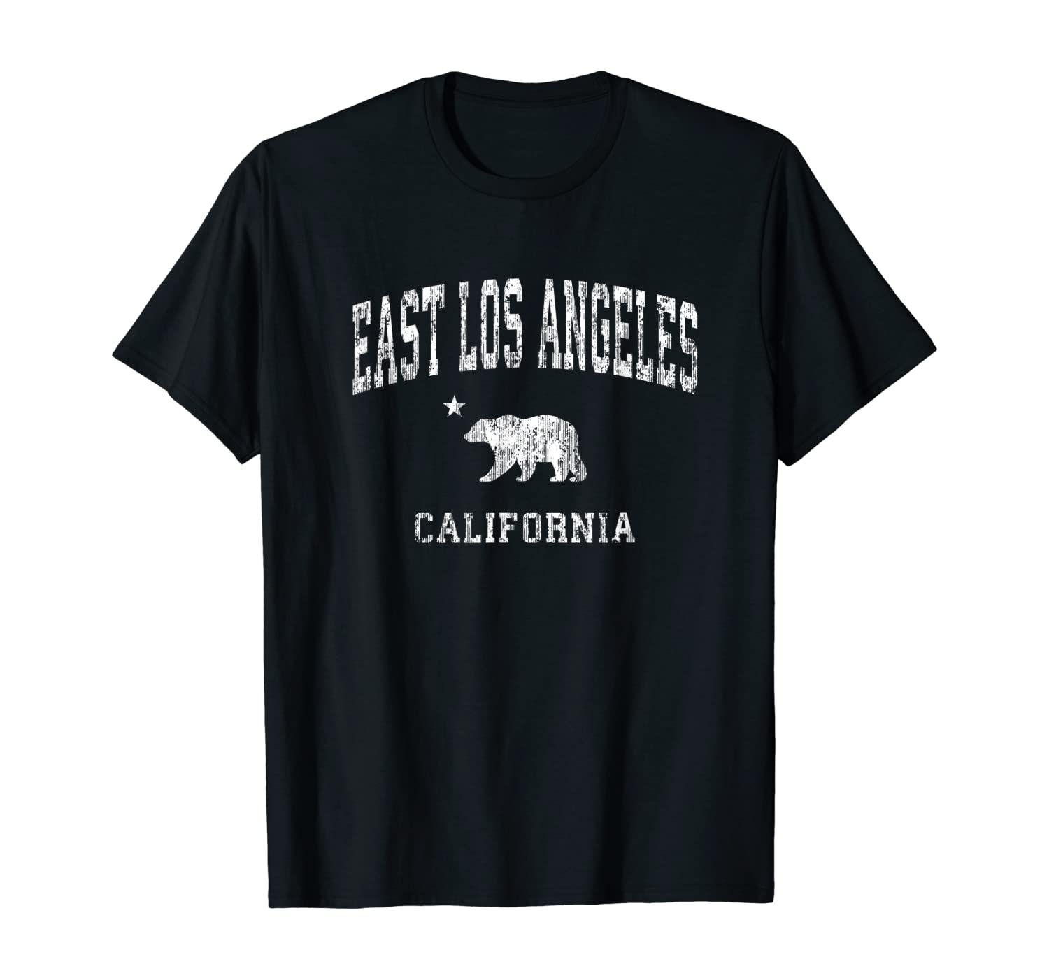 East Los Angeles California Vintage Distressed Sports Design T-Shirt