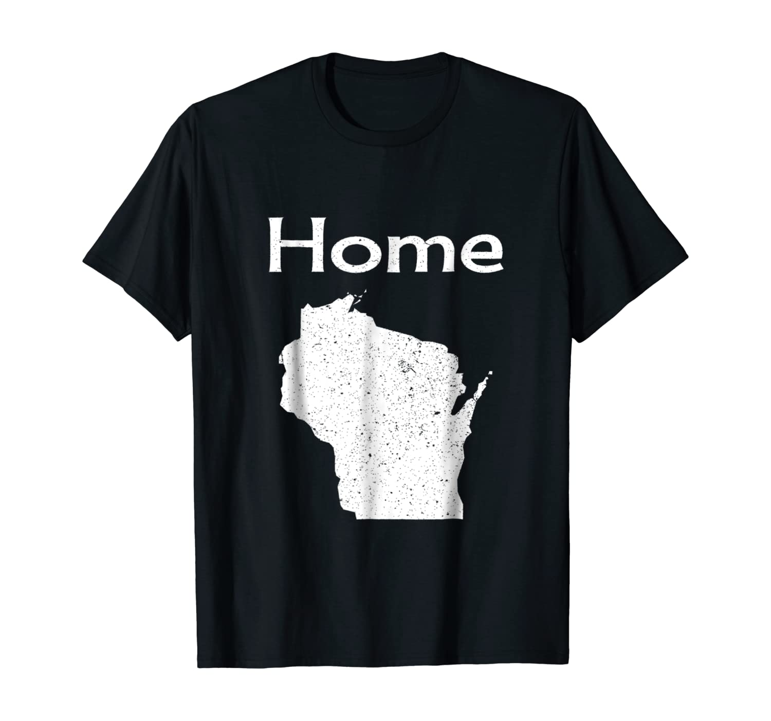 Wisconsin, Distressed Home State t-shirt