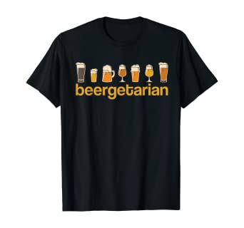 Divertida y Chistosa Amantes Cerveza Artesanal Beergetarian Camiseta