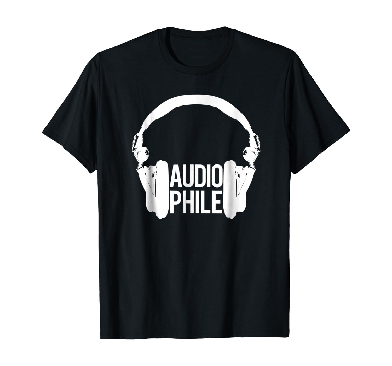 Audiophile headset headphone music lover t-shirt