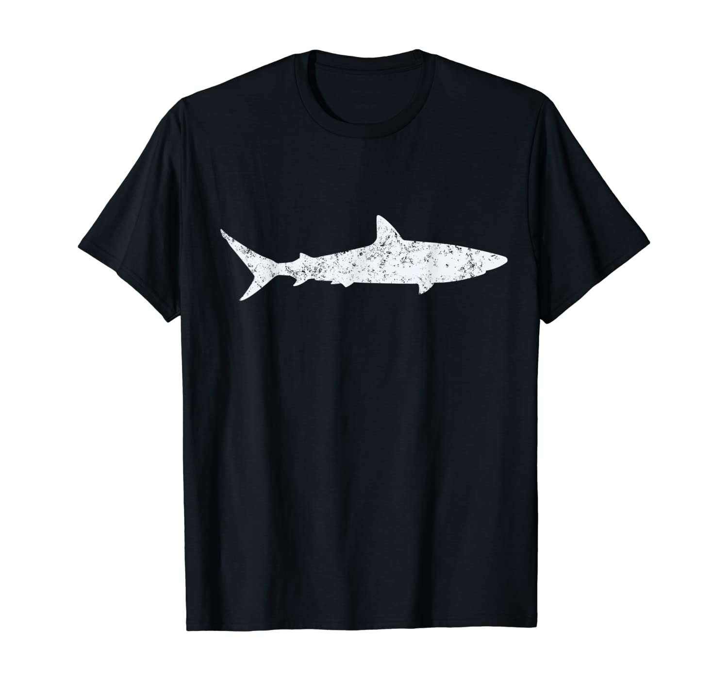 Shark Retro Vintage T-Shirt 70s Distressed Throwback Tee