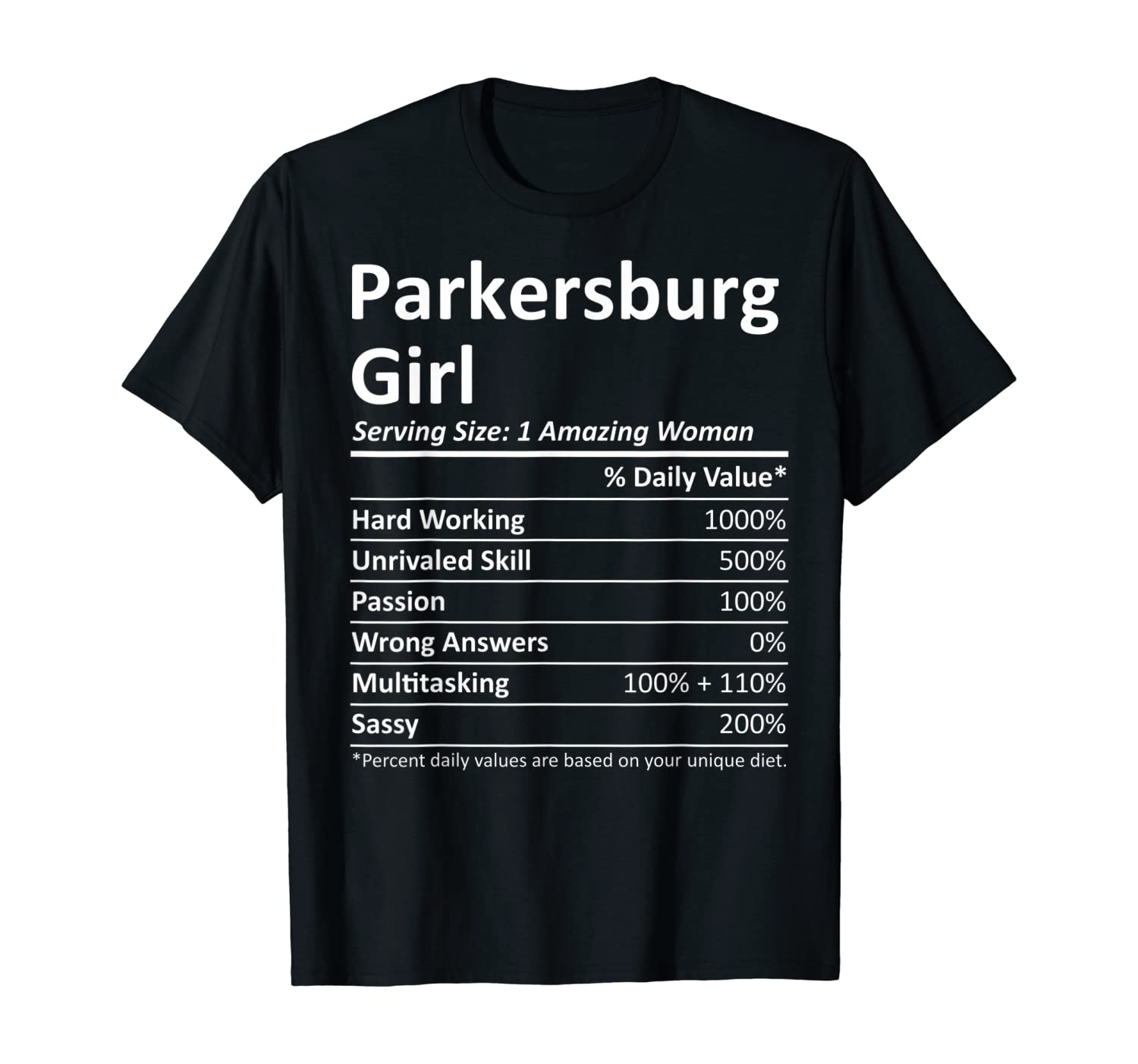 PARKERSBURG GIRL WV WEST VIRGINIA Funny City Home Roots Gift T-Shirt