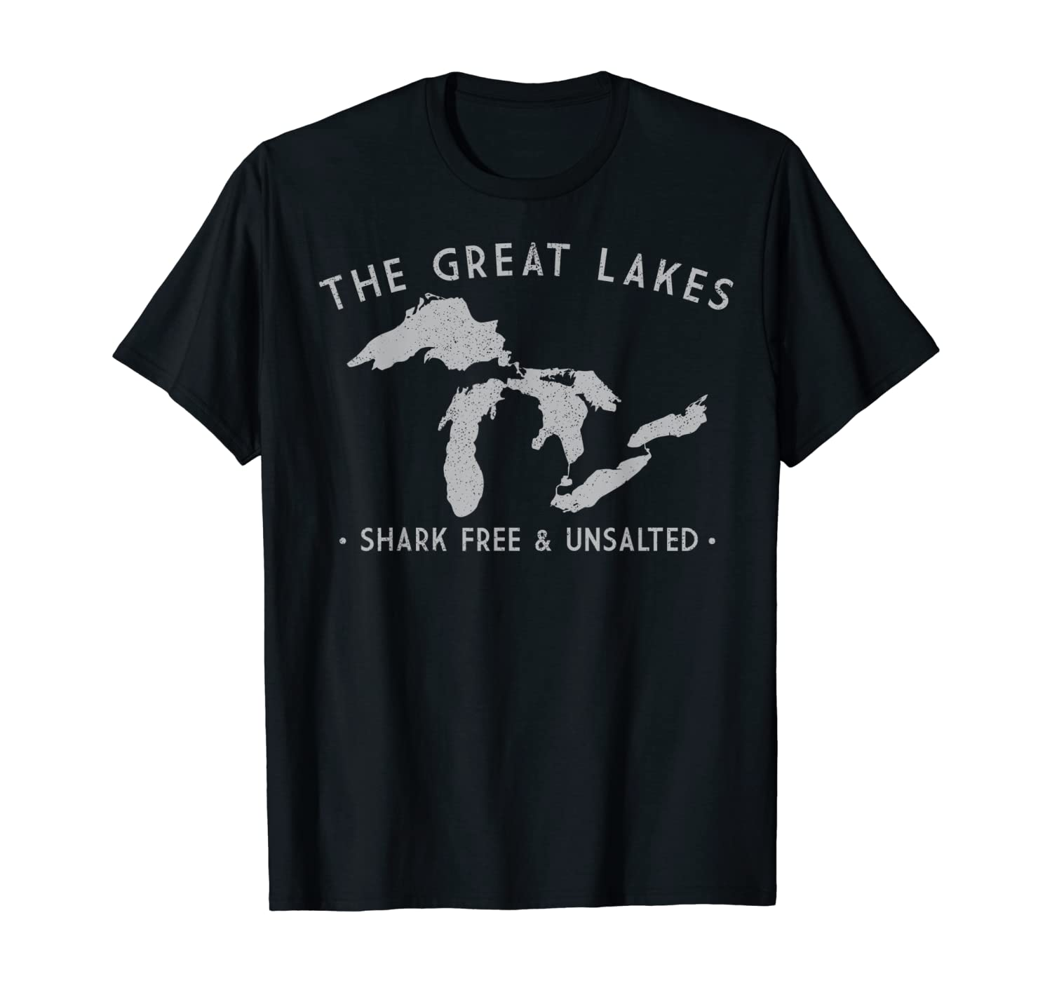 Great Lakes Shark Free and Unsalted Funny Vintage T-Shirt
