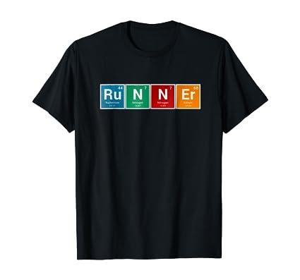 """Runners Shirt Periodic Table """"Runner"""" Men & Women Tee Gifts"""