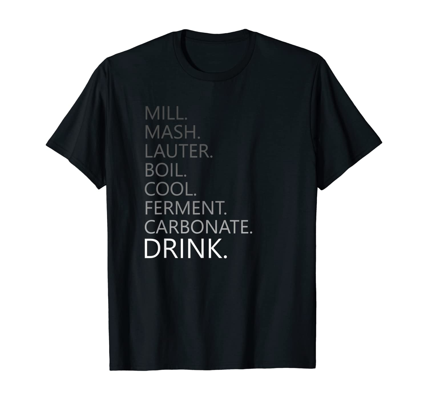 Home Brewing Craft Beer Steps T-Shirt