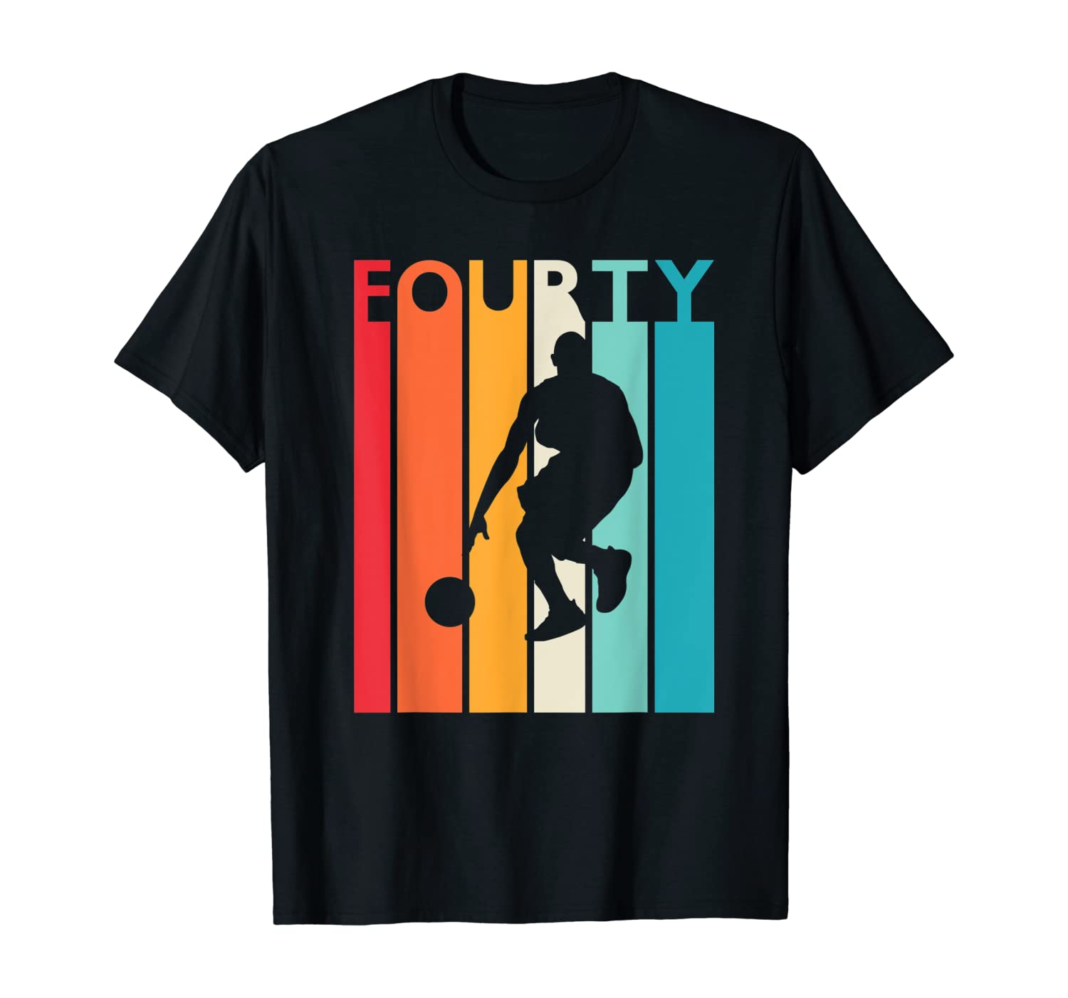 40th Birthday Gift Vintage Basketball For 40 Year Old Shirts