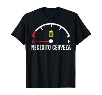 Necesito Cerveza Funny Spanish I Need Beer Drinking Lover Camiseta