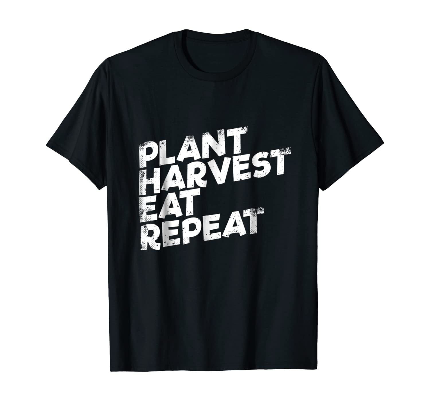 Organic Vegetable Gardening Tshirt Plant Harvest Eat Repeat