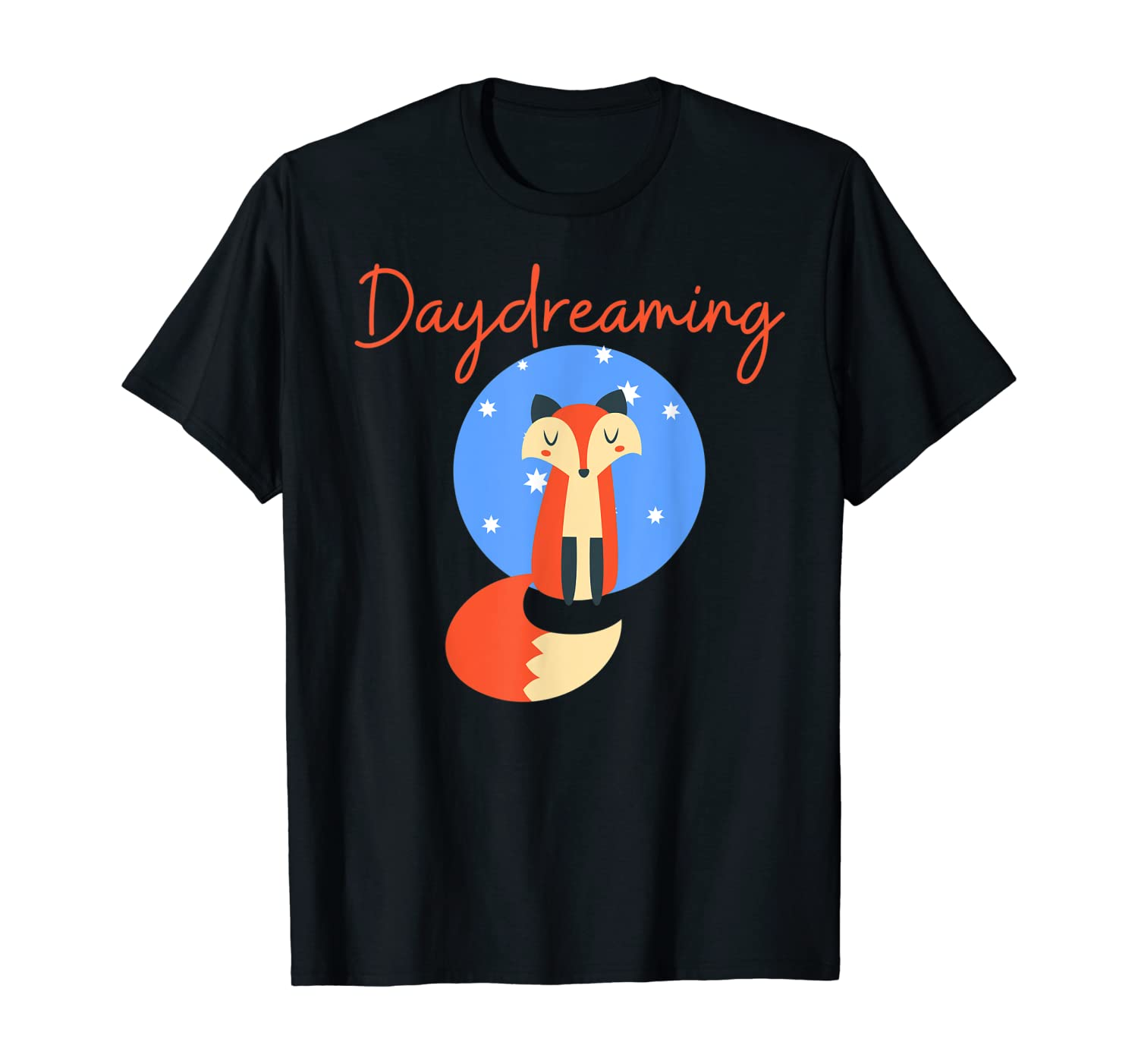 Cute Daydreaming Fox for Nature & Animal lover gift design T-Shirt