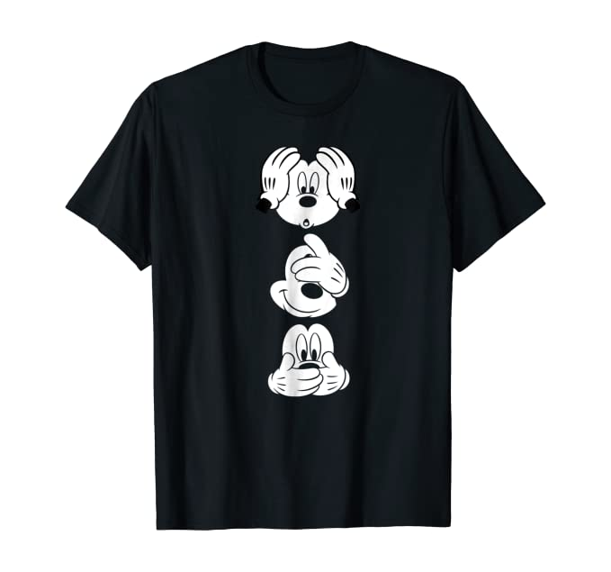 Disney Mickey Mouses Three Faces Graphic T-Shirt