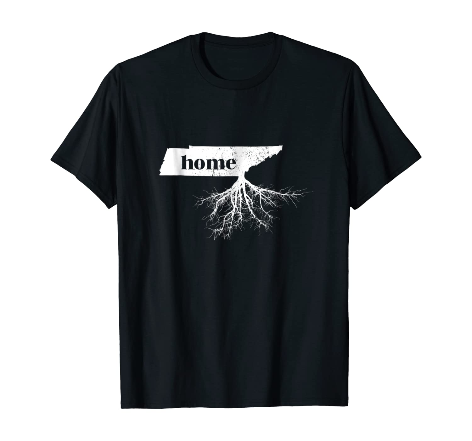Tennessee Home Roots State Map Shirt Born Love Pride Gift T