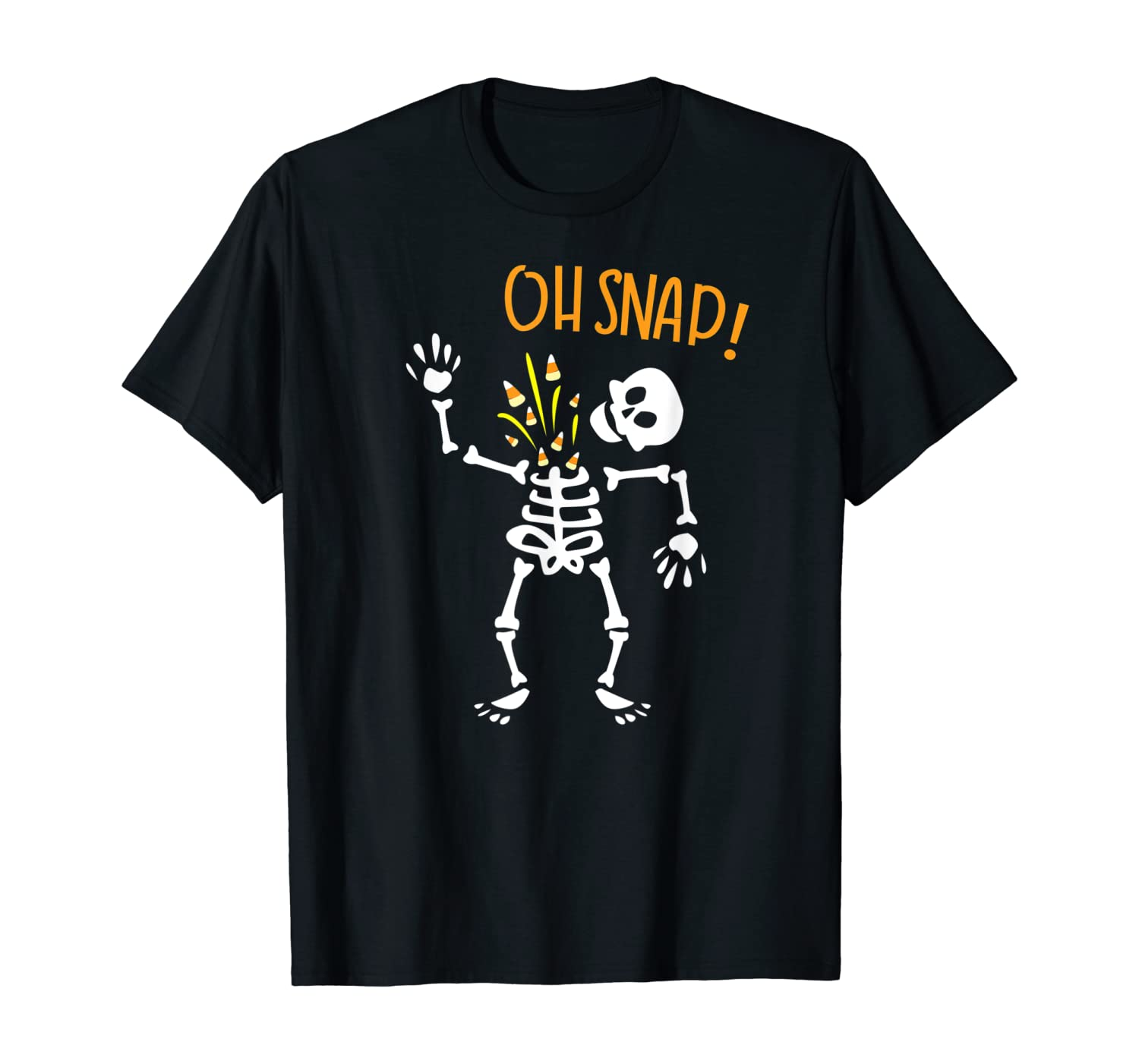 Skeleton Funny Halloween Trick or Treat Spooky Toddler T-Shirt Oh Snap