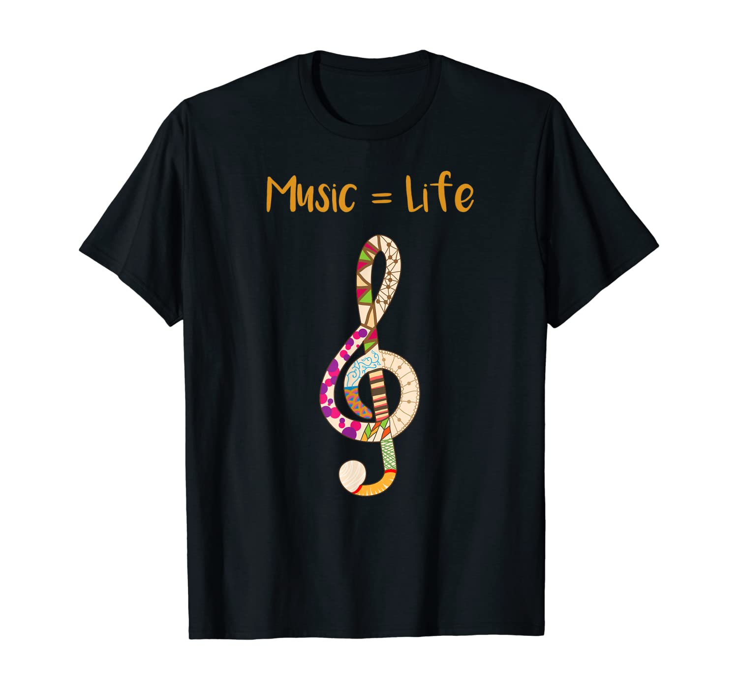 Music Is Life Treble Clef For Music Lovers & Artists
