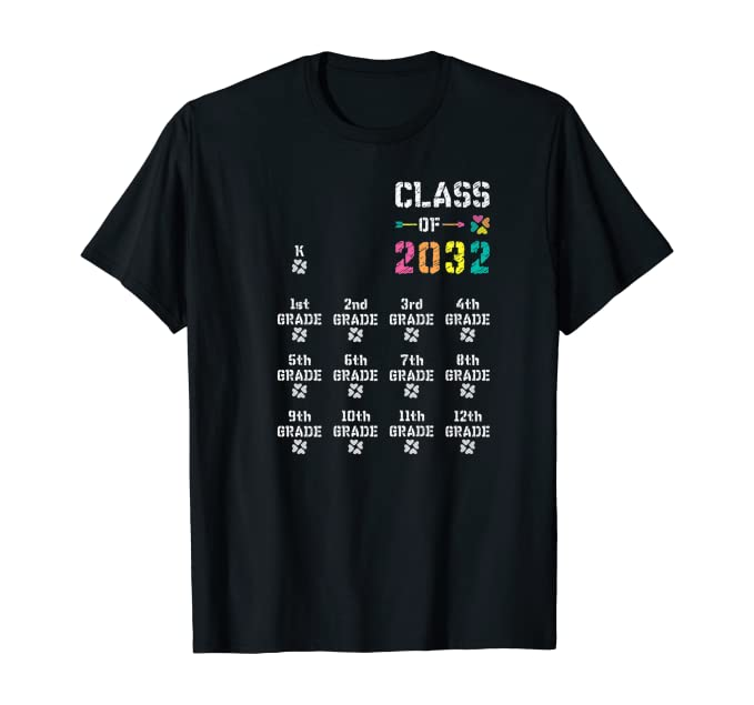 Kindergarten: CLASS OF 2032 Lucky Space for Grow-With-Me T-Shirt