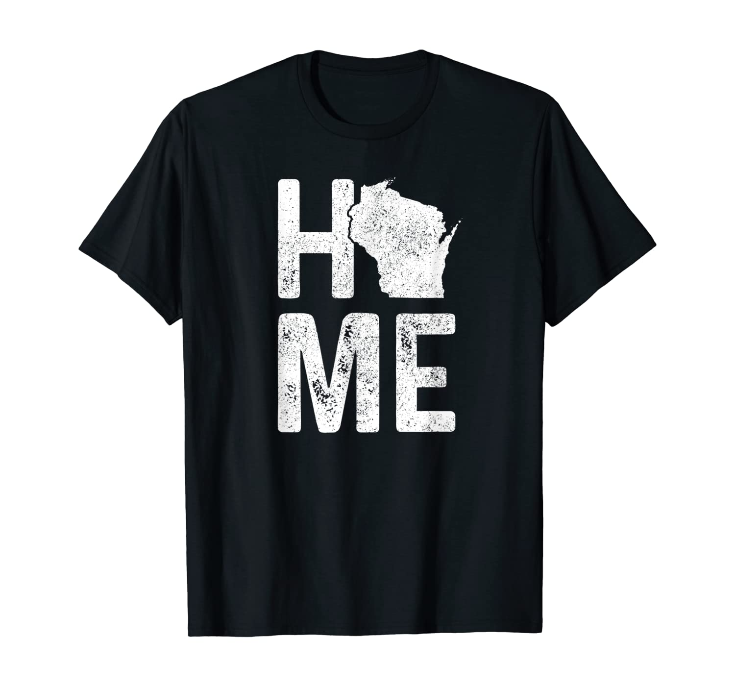 Wisconsin Home Vintage State Map Pride Gift T-Shirt