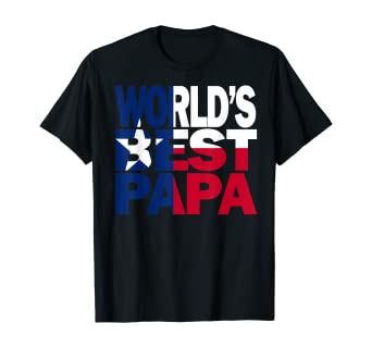 Amazon Com Cool Worlds Best Papa Shirt And Texas T Shirt Papa Shirt Te Clothing