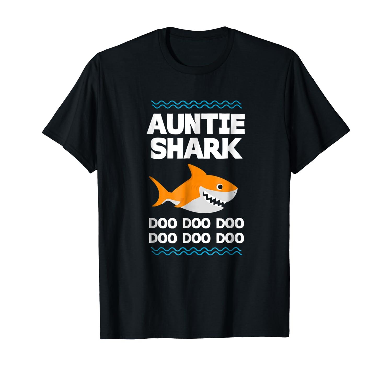 Auntie Shark T-Shirt Doo Doo Uncle Mommy Daddy Aunt Tshirt