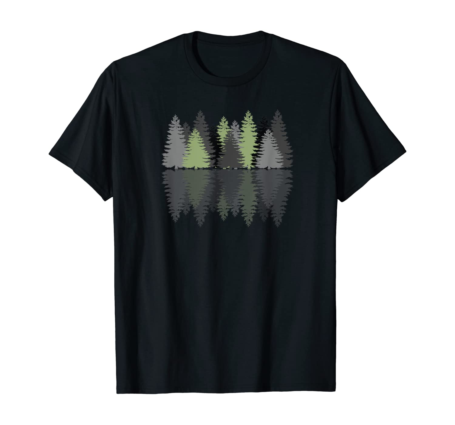 Forest Reflection Nature Trees Woods T-Shirt