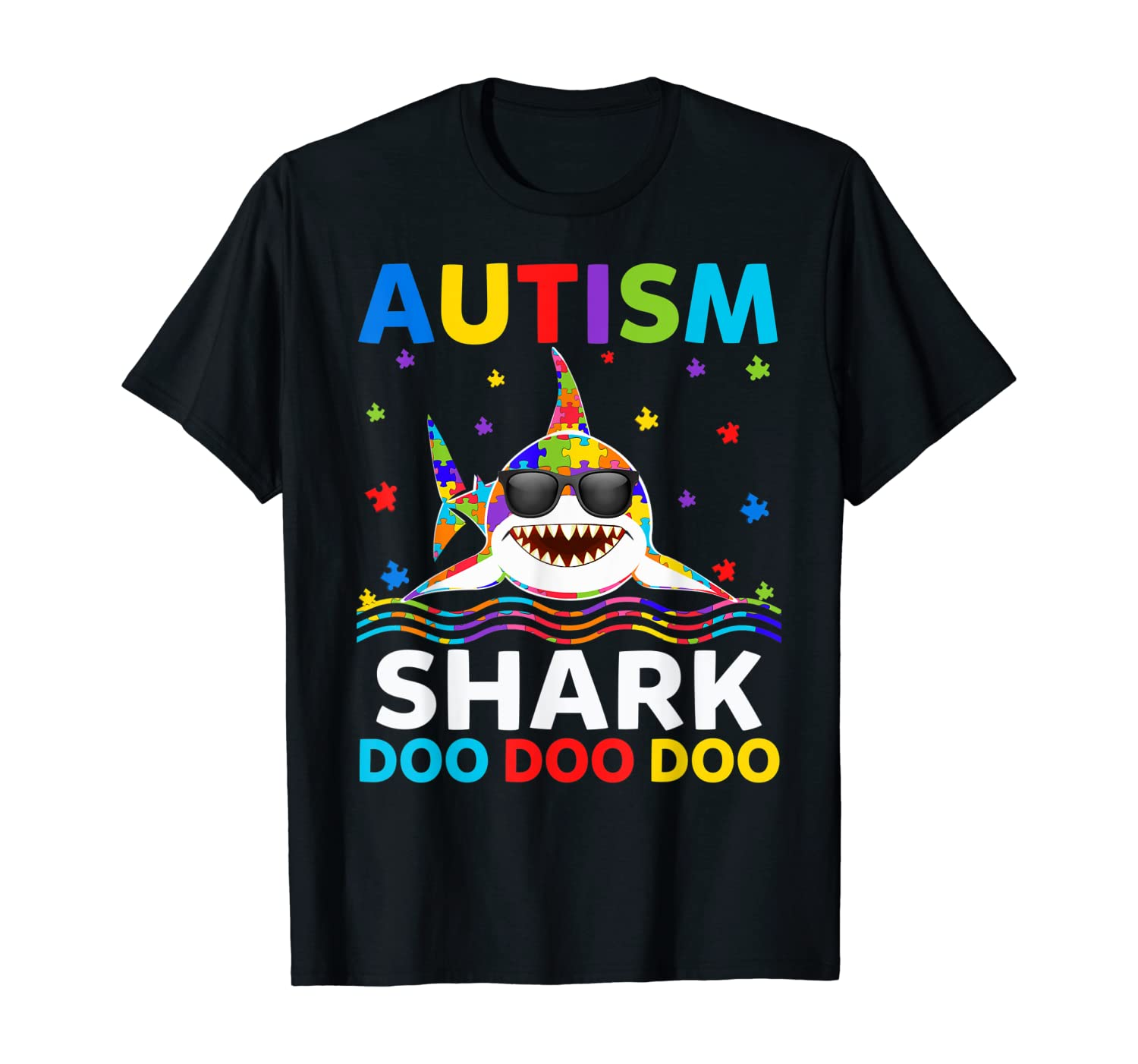 Funny Autism Shark Puzzle Awareness Day Cute Shirt For Boys T-Shirt