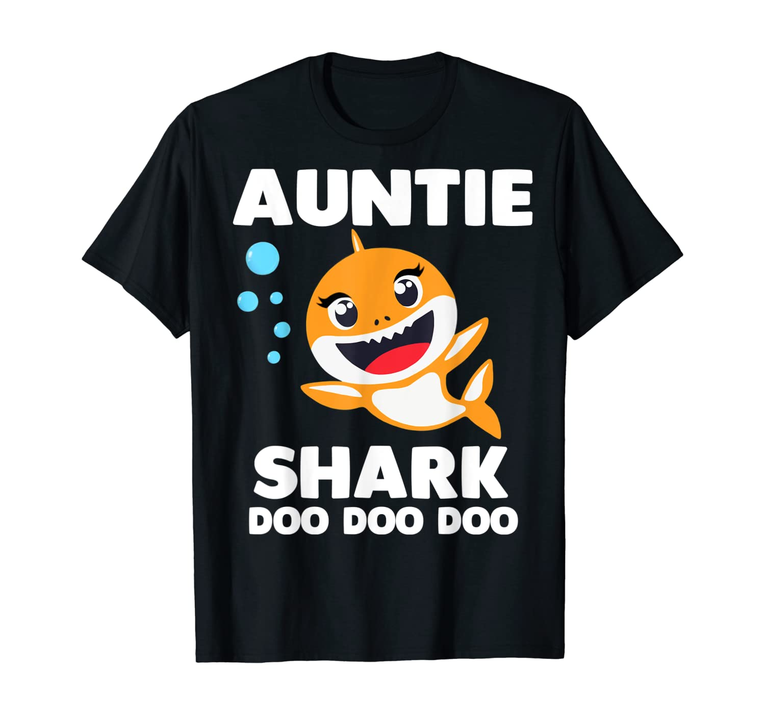 Auntie Shark Shirt Doo Doo Uncle Mommy Daddy Aunt T-Shirt