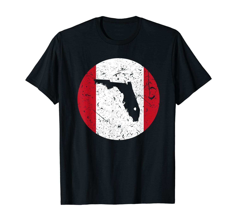 Proud Floridian-Peruvian From Florida Peru Home Pride T-Shirt