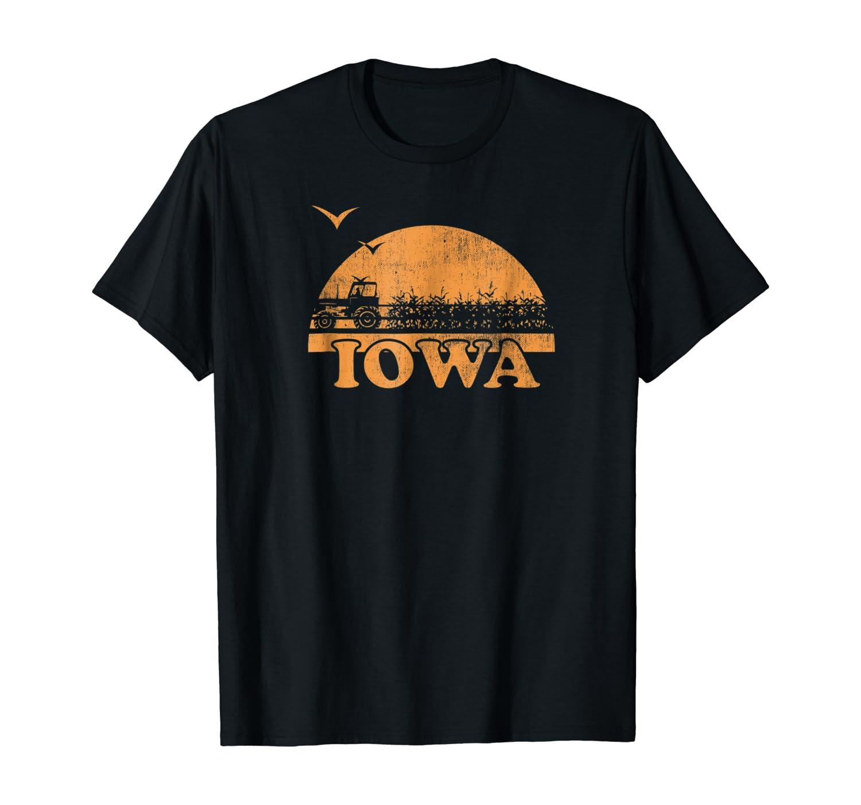 Vintage Iowa 70s 80s Sunrise T-Shirt - IA Distressed Tee