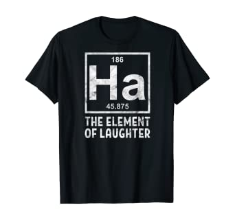 Amazon.com: Laughter Yoga Laughing Ha The Element Pun T-Shirt: Clothing