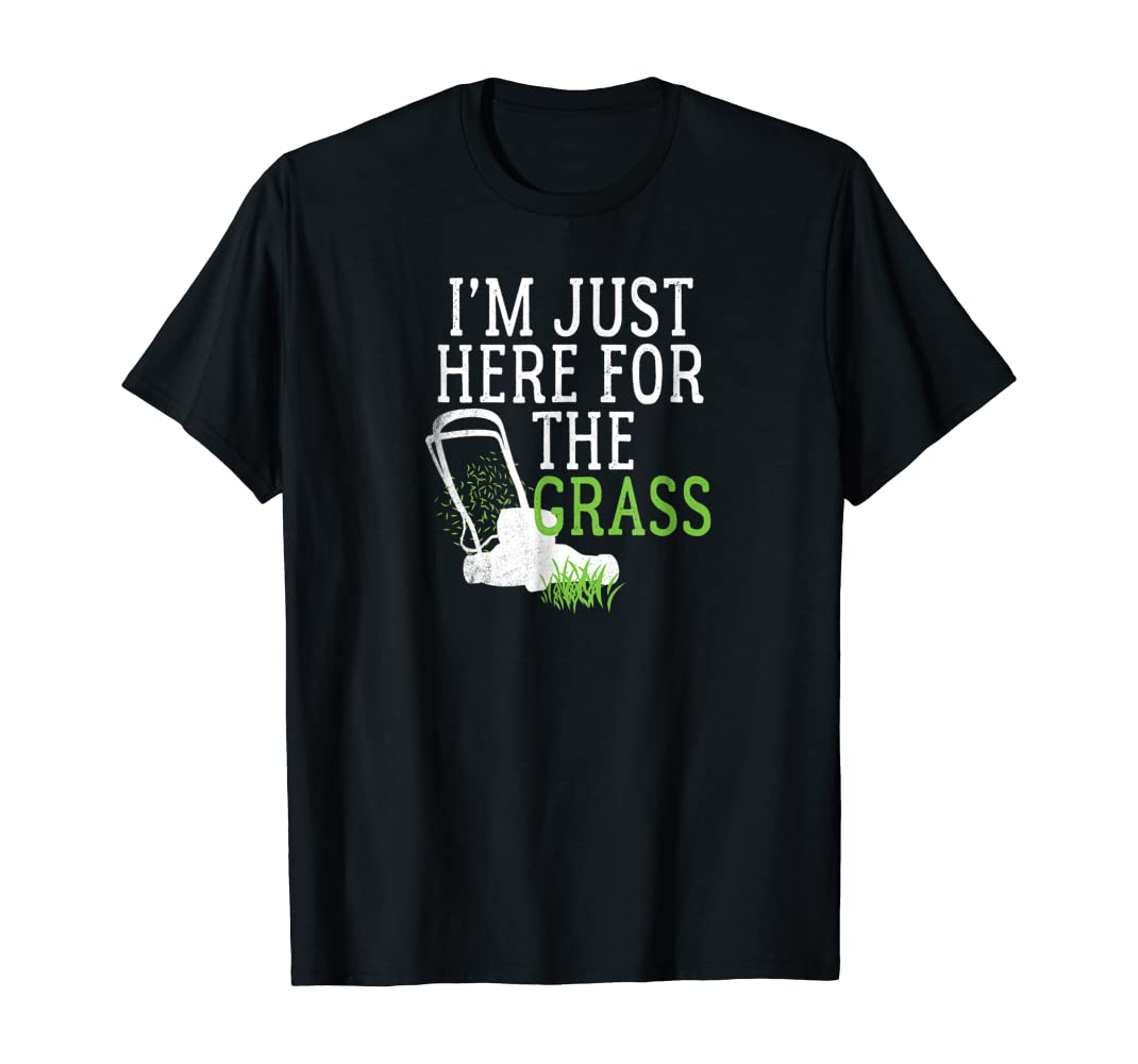 Amazon Com Lawn Care Shirts Funny Lawn Mower T Shirts Grass Mowing Tees Clothing