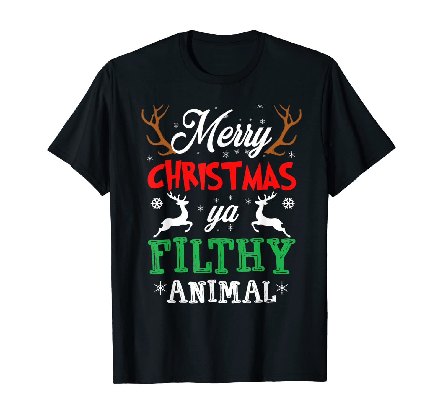 Funny Alone At Home Movies Merry Christmas You Filty Animal T-Shirt