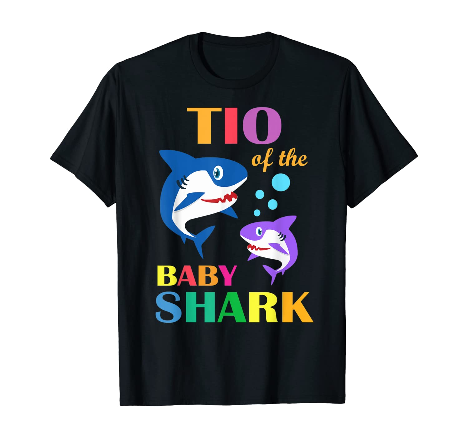Tio Of The Baby Birthday Shark Tio Shark Christmas Day T-Shirt