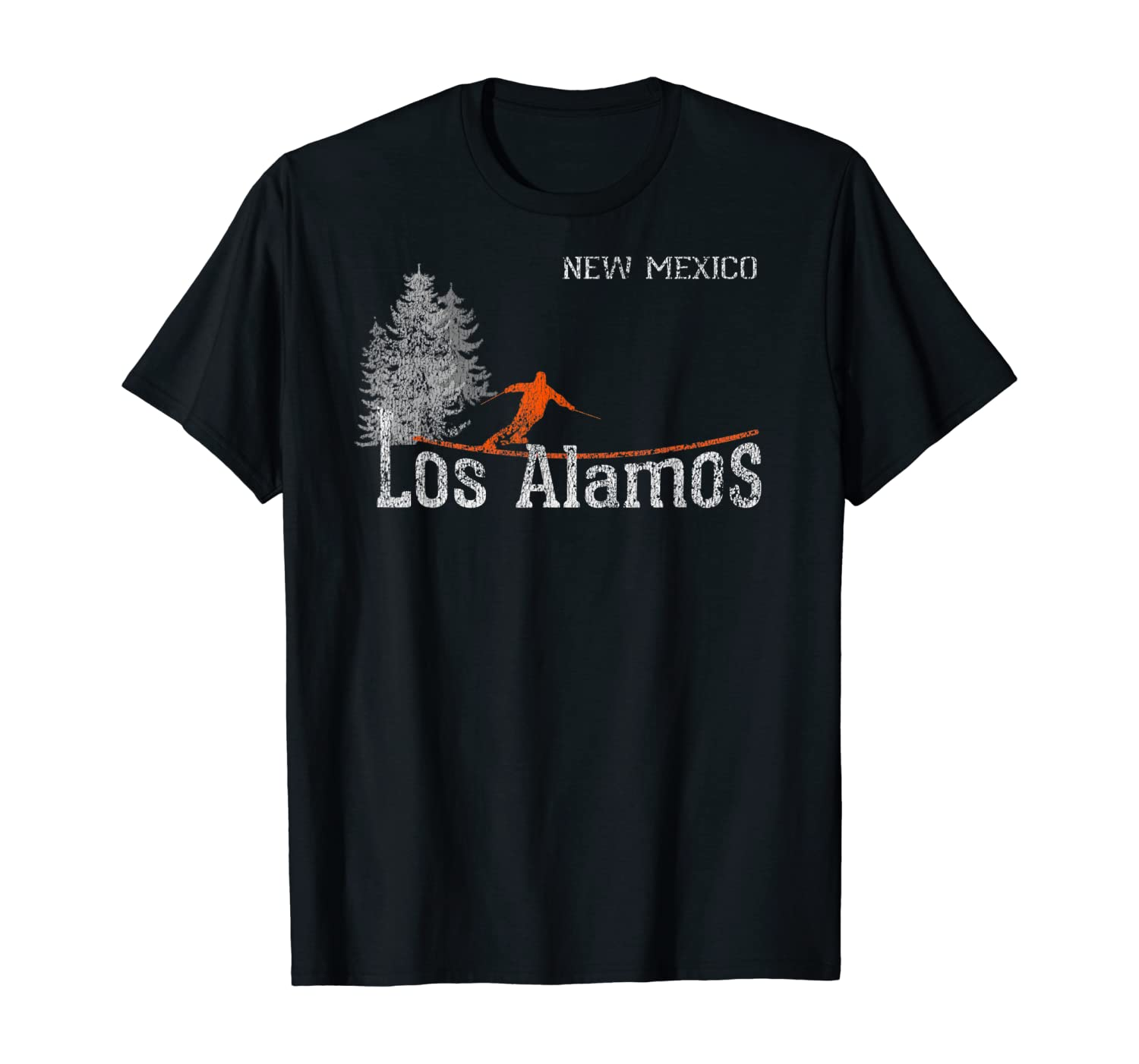 1980s Style Los Alamos New Mexico Vintage Skiing T-Shirt