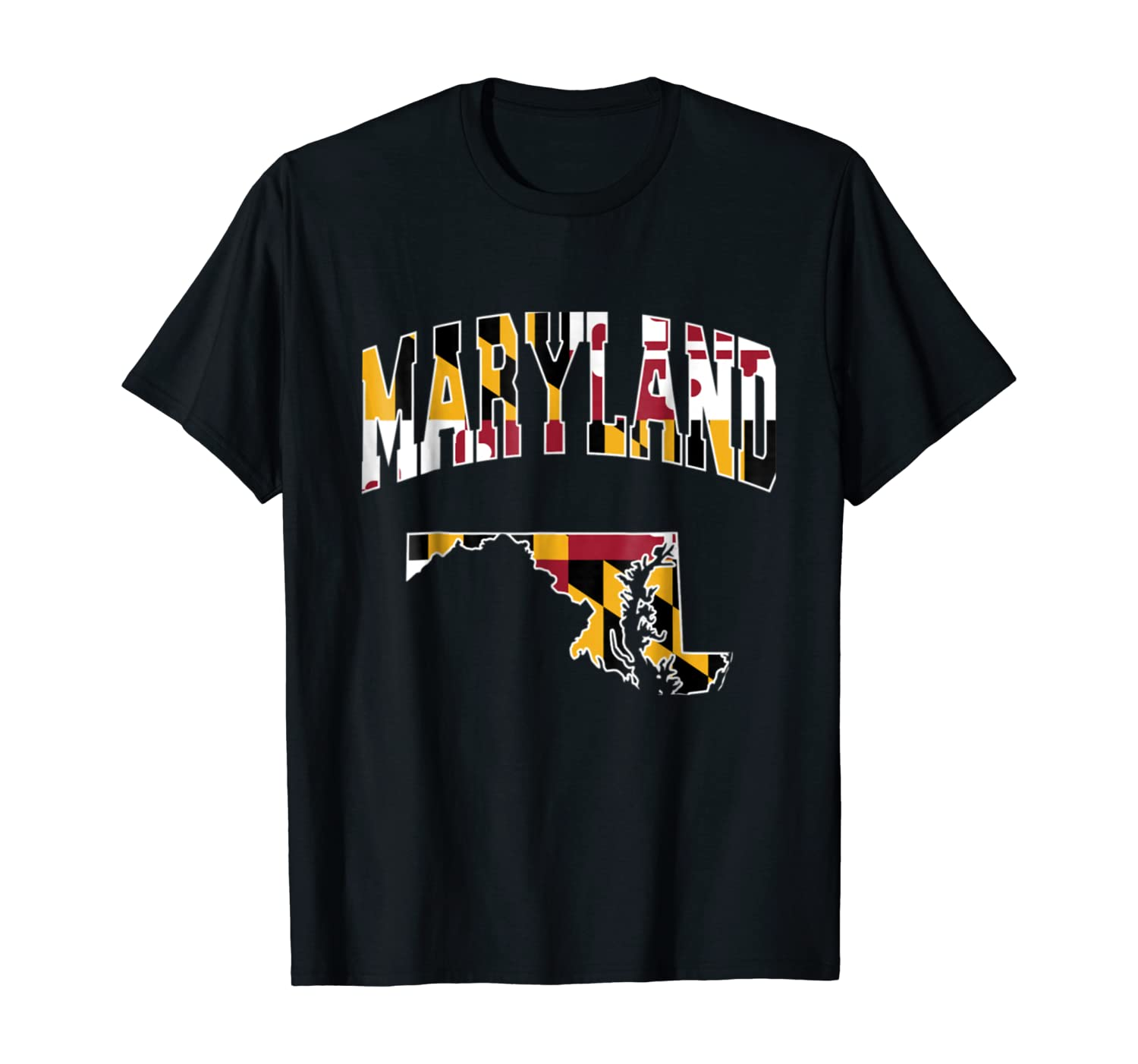 Vintage Maryland State Map T-shirt Maryland Home Shirt