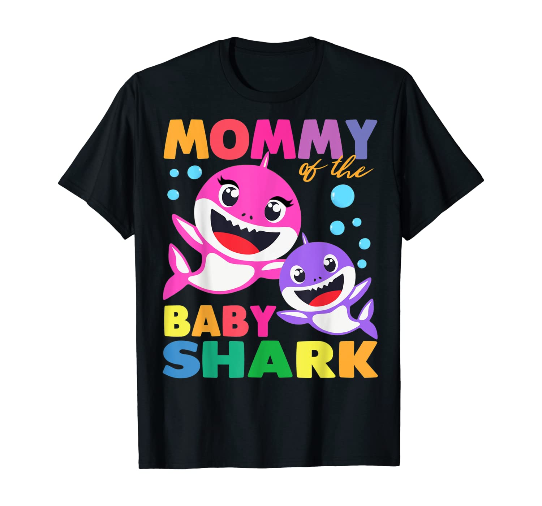 Mommy Of The Baby Shark Birthday Boy, Girl, Kids Mommy Shark T-Shirt