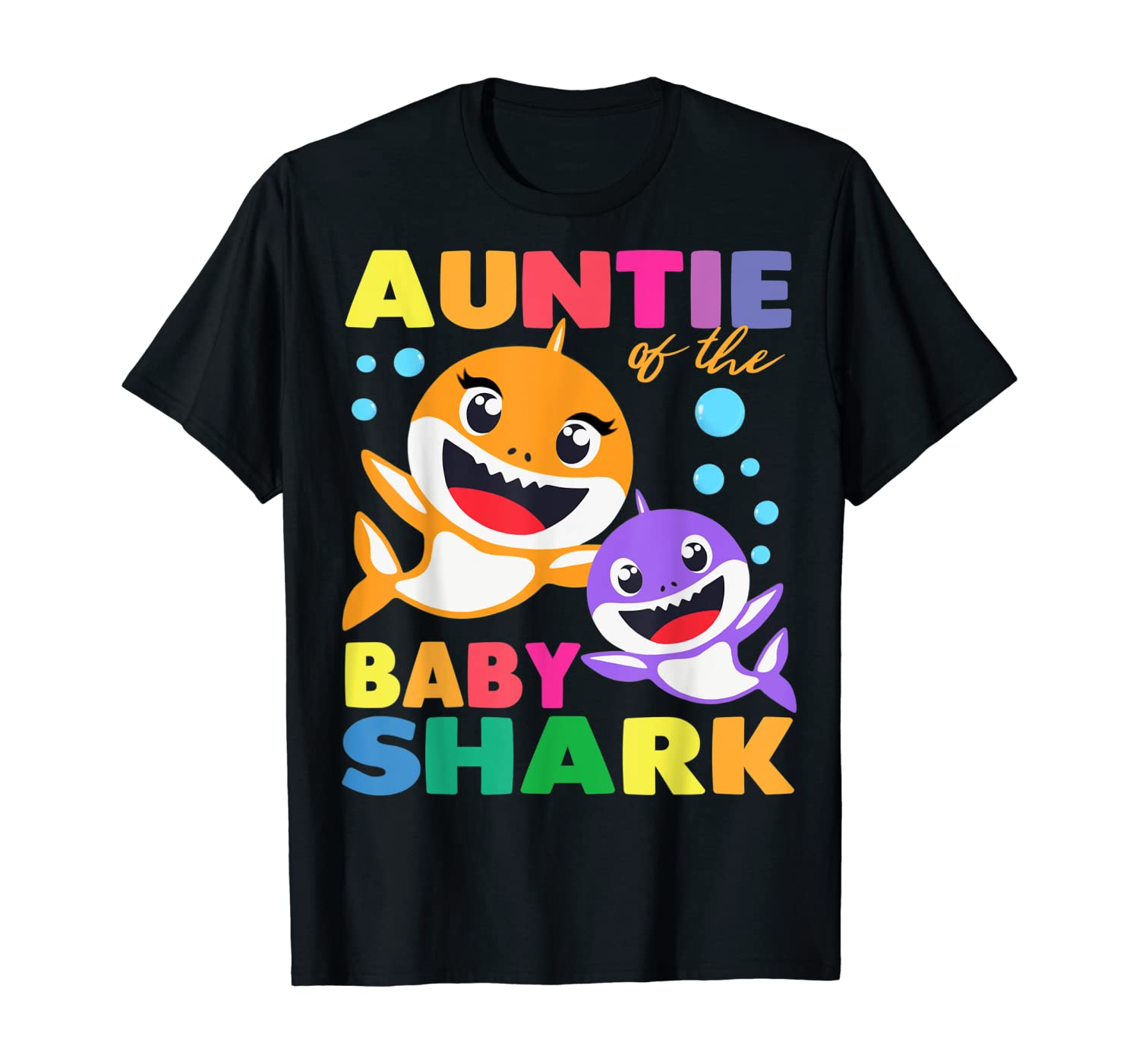Aunt Of The Baby Shark Birthday Aunt Shark Shirt T-Shirt