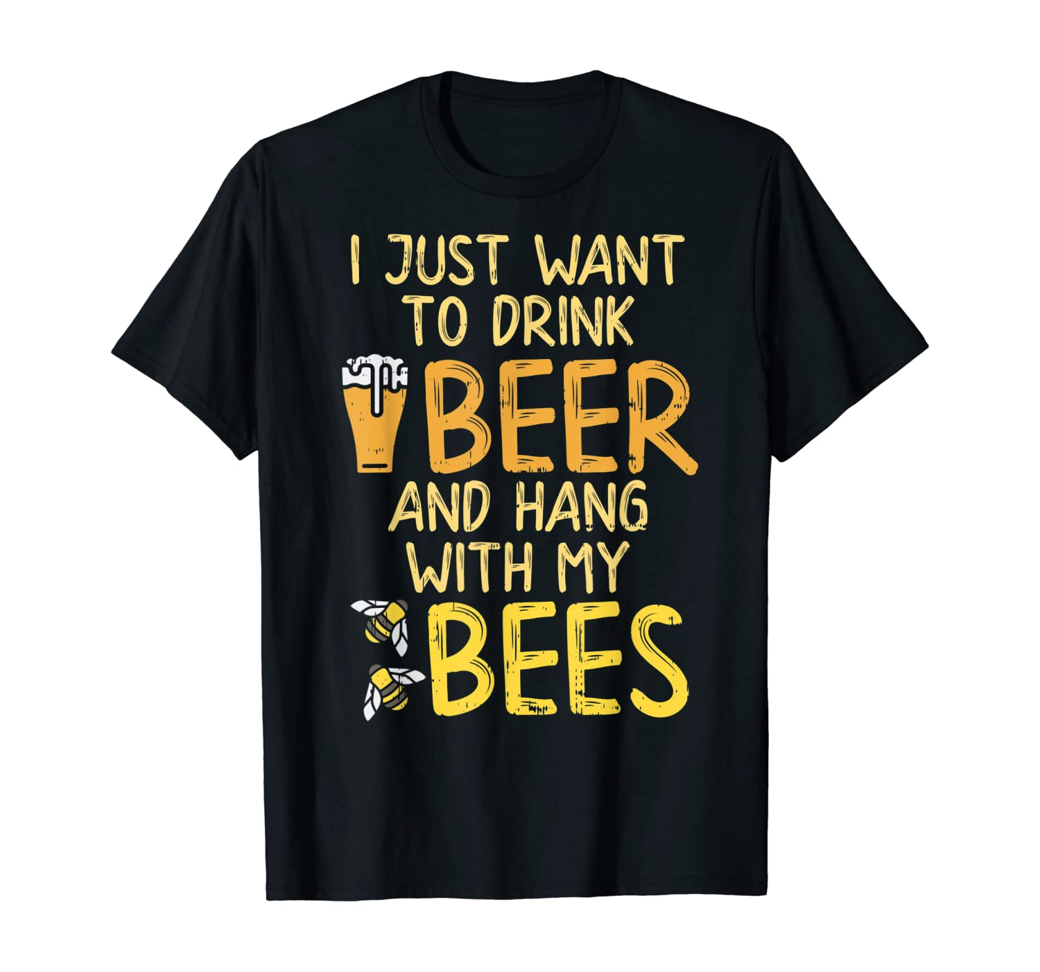 Drink Beer Hang With Bees Funny Beekeeping Apiarist Dad Gift Shirts