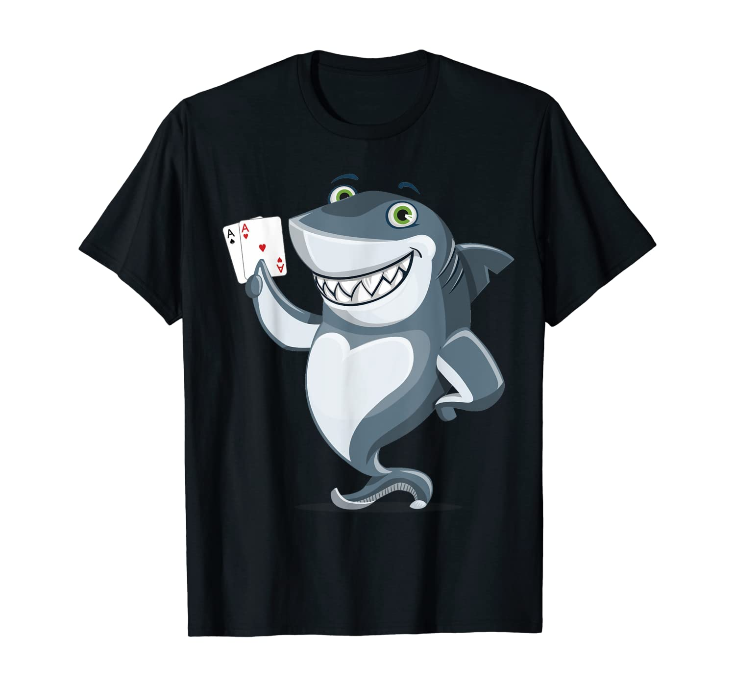 Shark Poker Player T-Shirt - Funny Poker Gift TShirt
