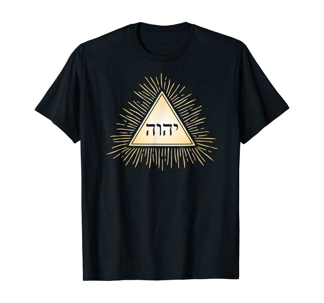 Amazon.com: YHVH Tetragrammaton Triangle Pyramid Kabbalah - Camiseta :  Ropa, Zapatos y Joyería