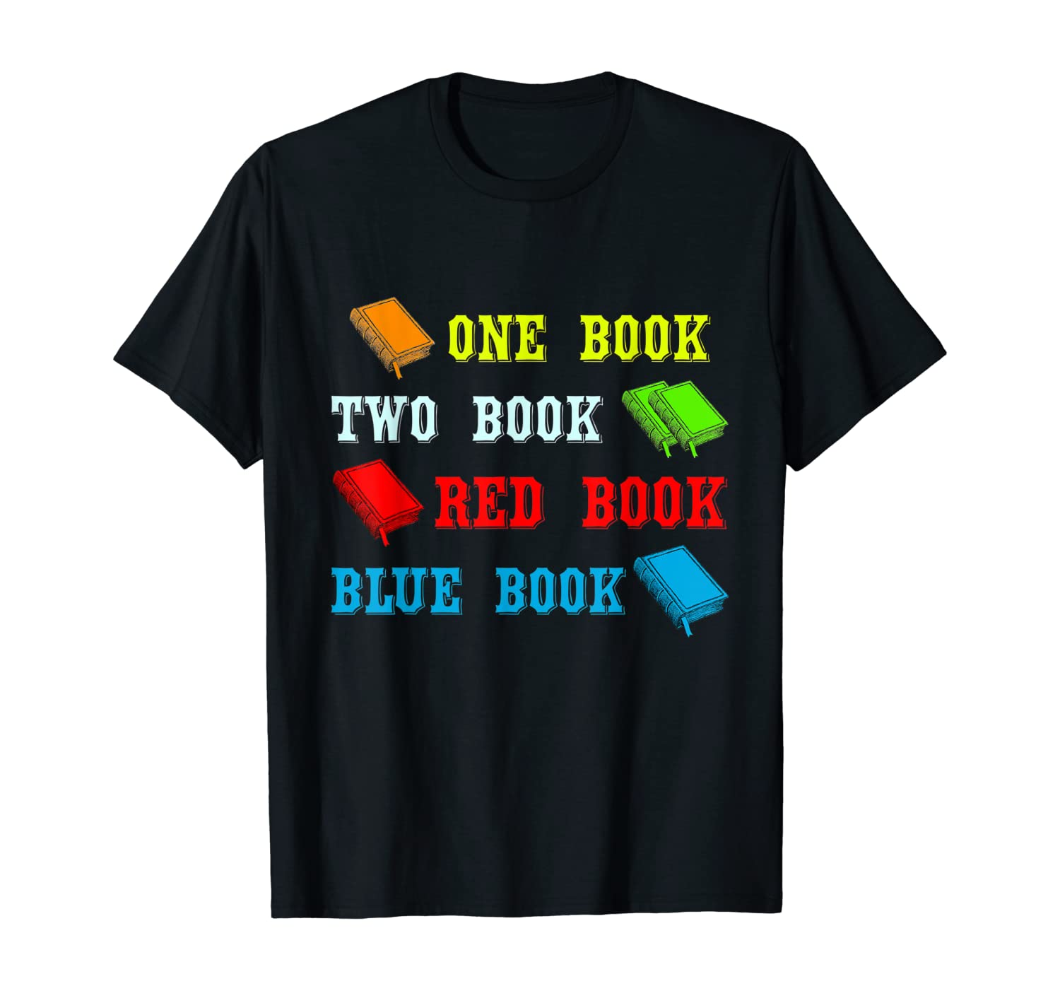 Reading Shirt | One Book Two Book Red Book Blue Book T-Shirt