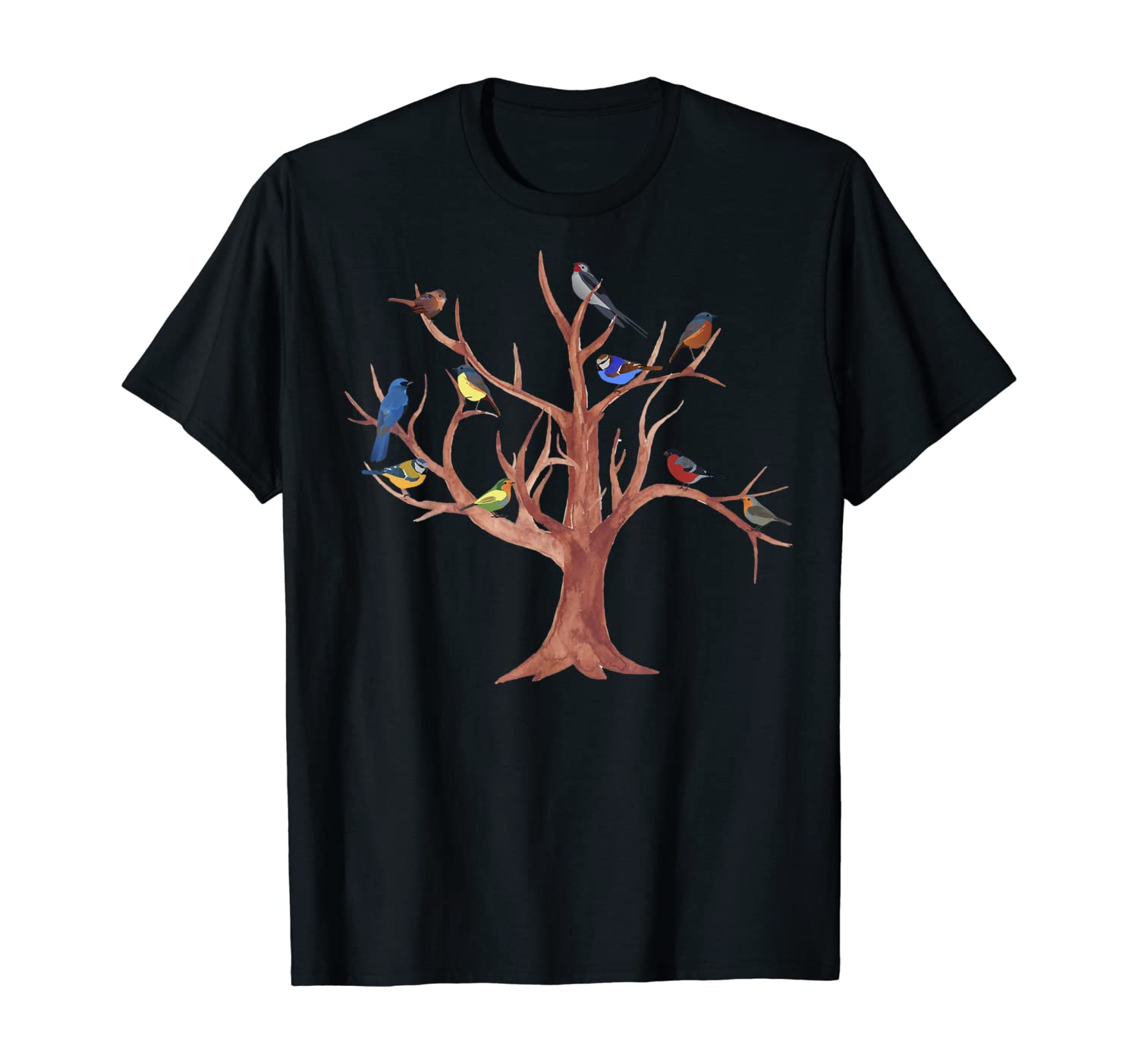 Fun Nature Lovers Trees and Birds Are Cool Gift Design T-Shirt