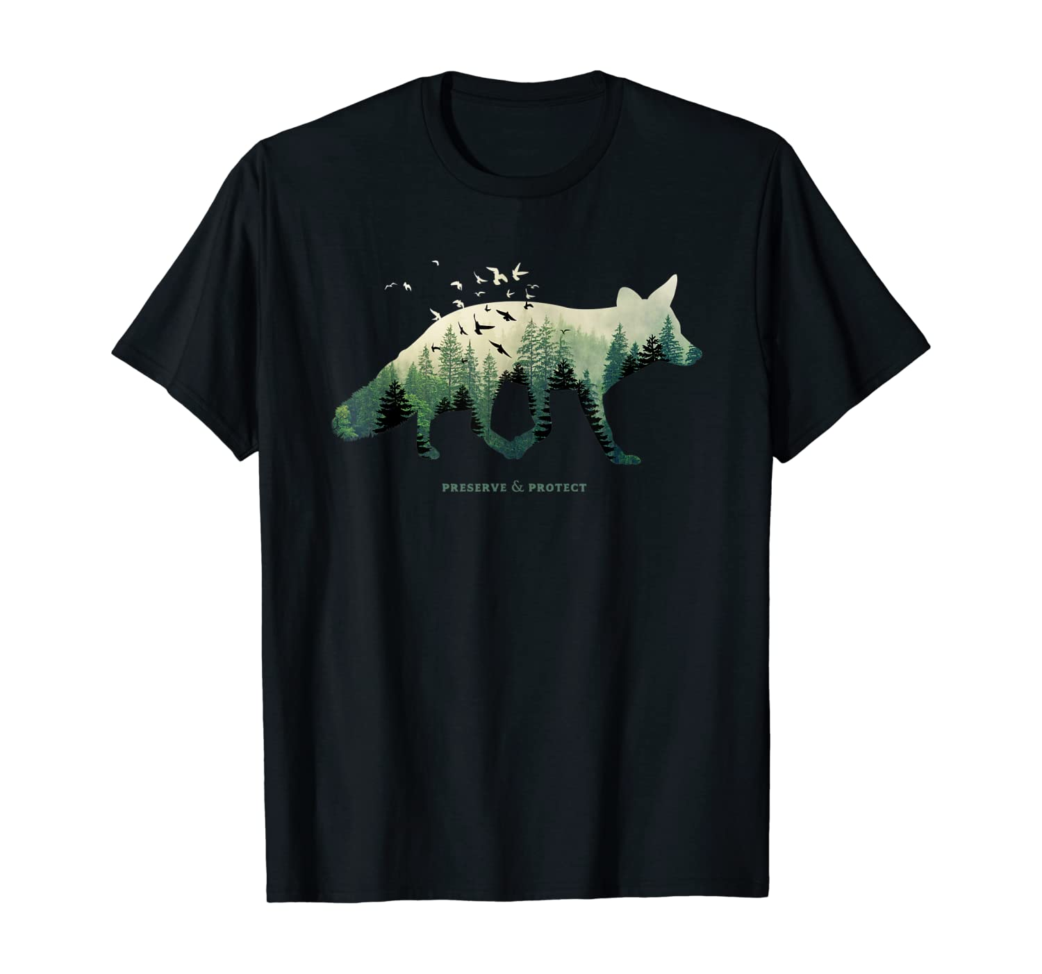 Preserve & Protect Vintage National Park Fox Forest T-Shirt